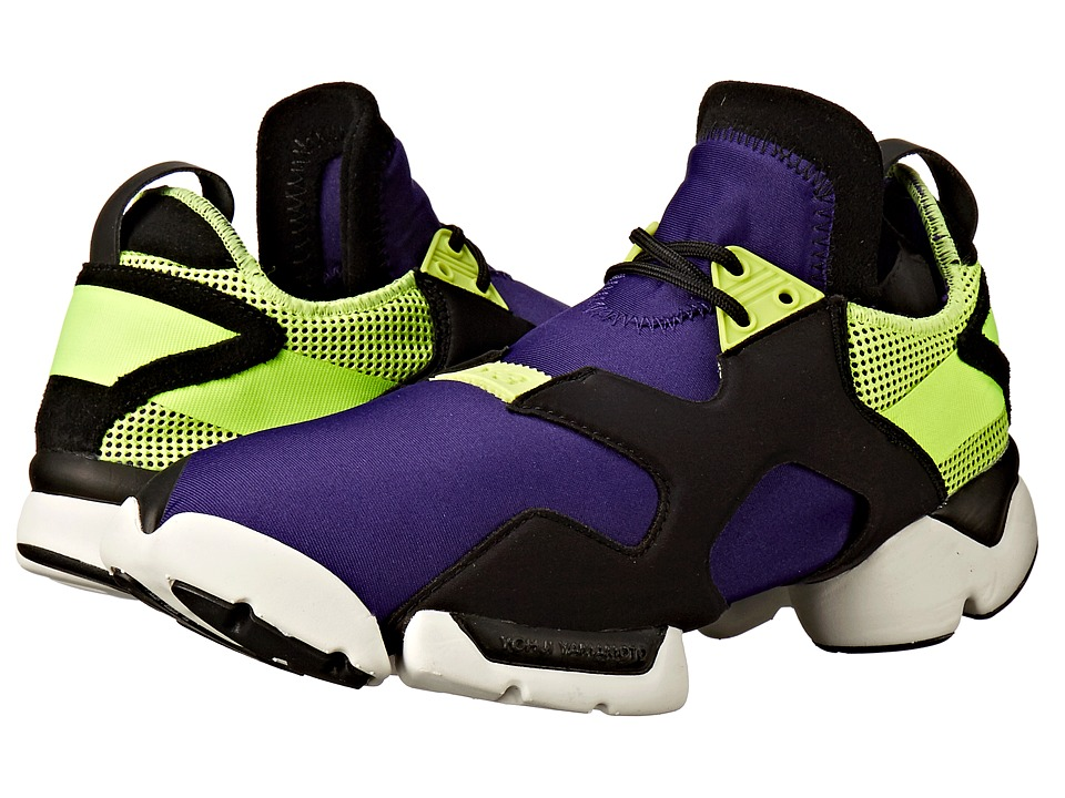 adidas Y-3 by Yohji Yamamoto - Kohna (Collegiate Purple/Core Black/Solar Yellow) Shoes