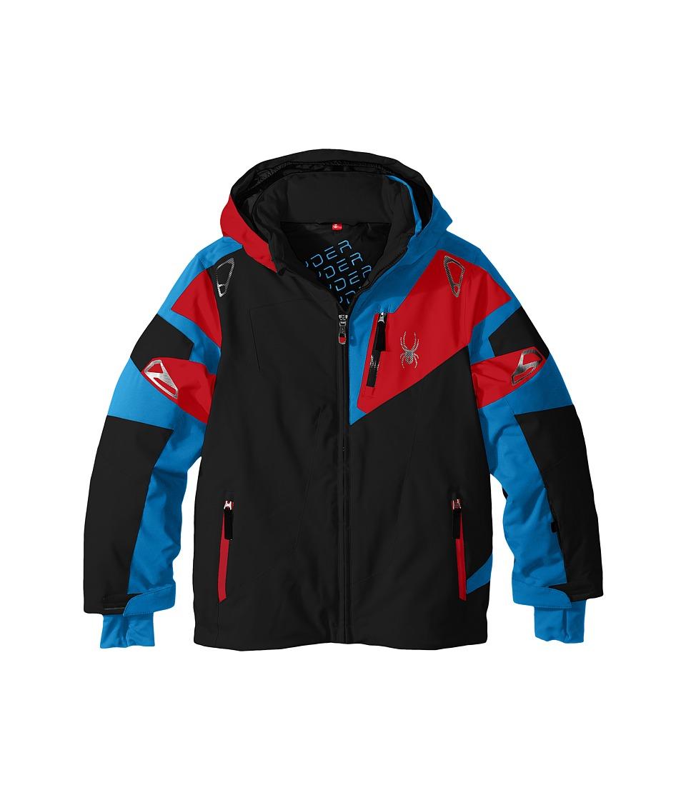 Spyder Kids - Leader Jacket (Big Kids) (Black/Electric Blue/Rage) Boy's Coat