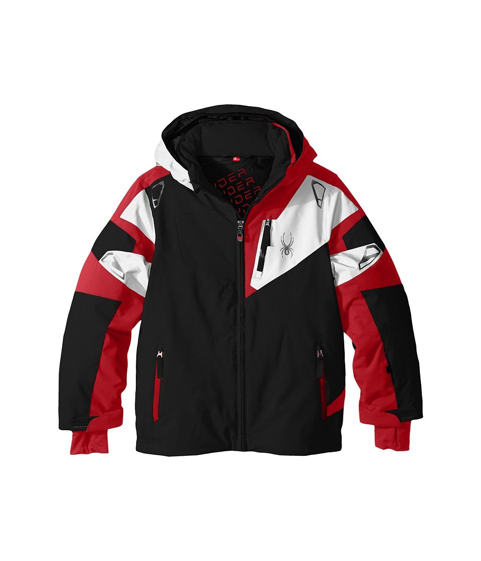 Spyder Kids - Leader Jacket (Big Kids) (Black/Red/White) Boy's Coat