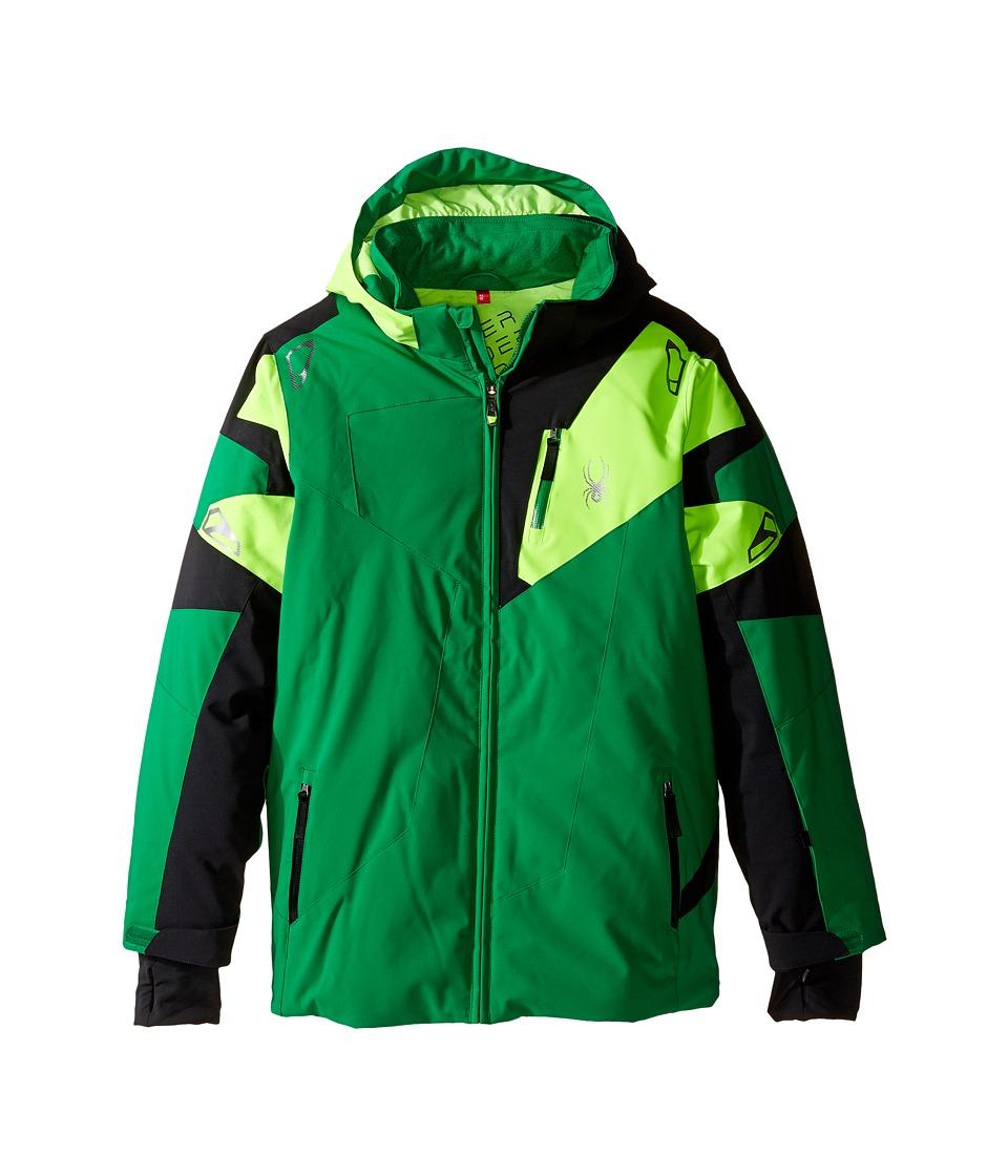 Spyder Kids - Leader Jacket (Big Kids) (Jungle/Black/Bryte Green) Boy's Coat