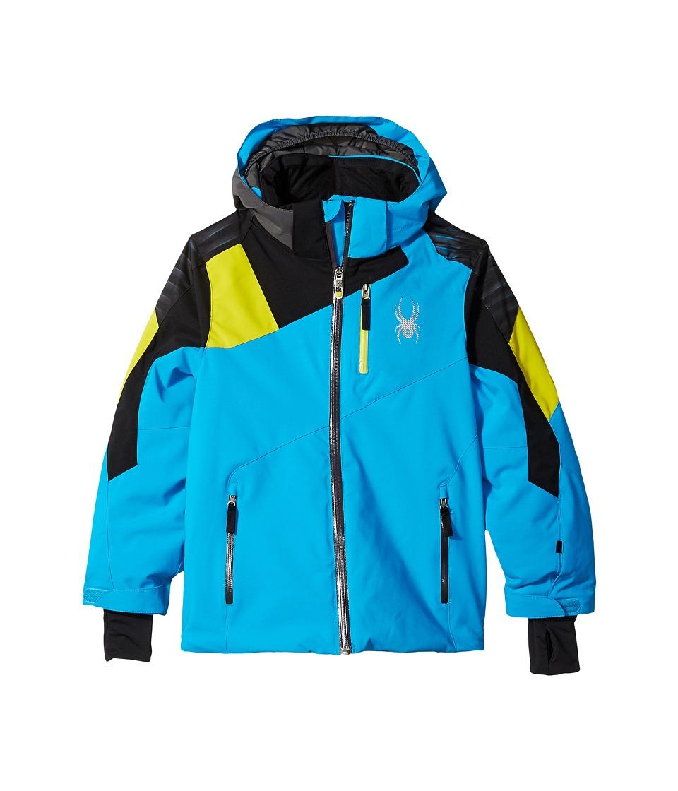 Spyder Kids - Avenger Jacket (Big Kid) (Electric Blue/Black/Sulfur) Boy's Coat
