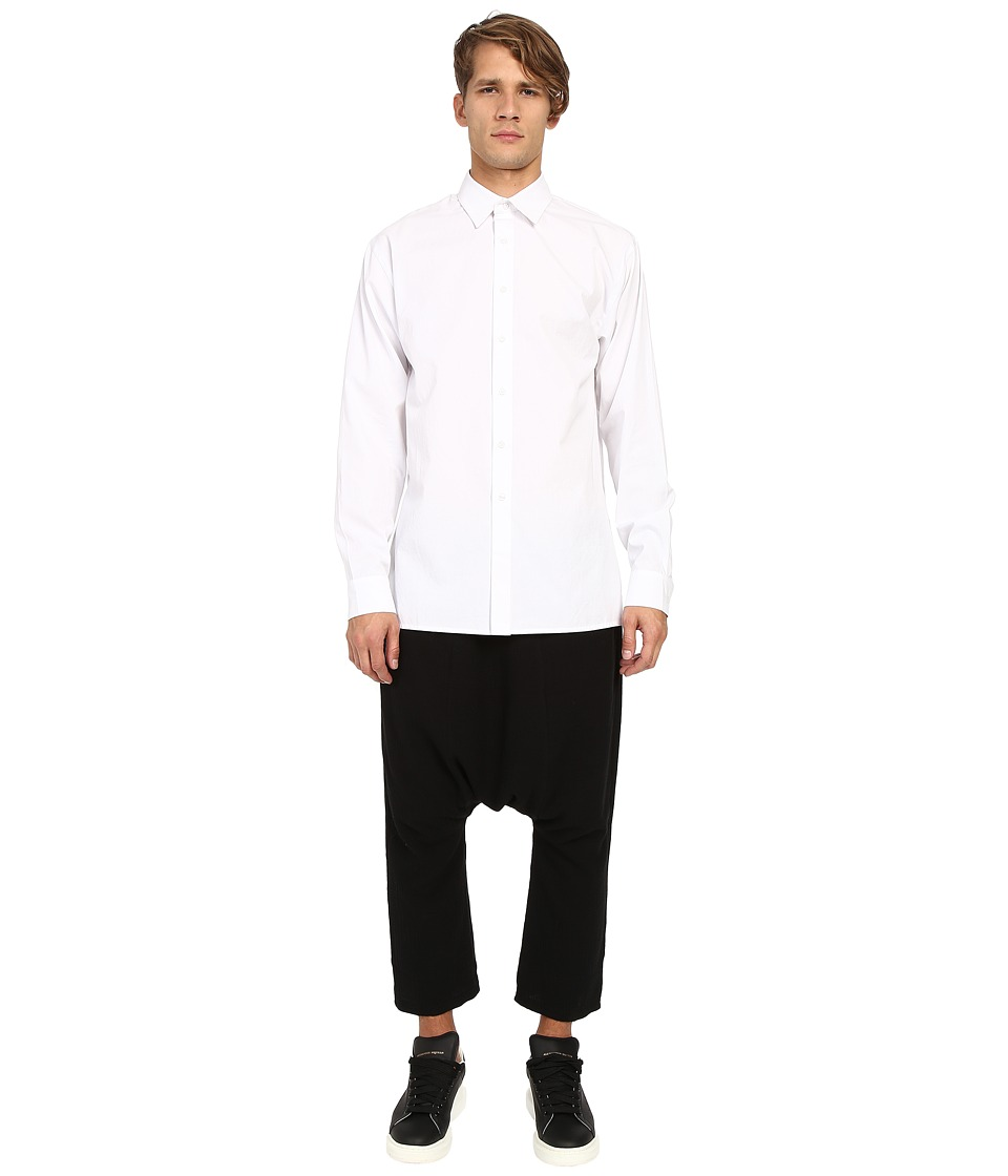 D.GNAK - Wide Sleeves Shirt (White) Men's Clothing