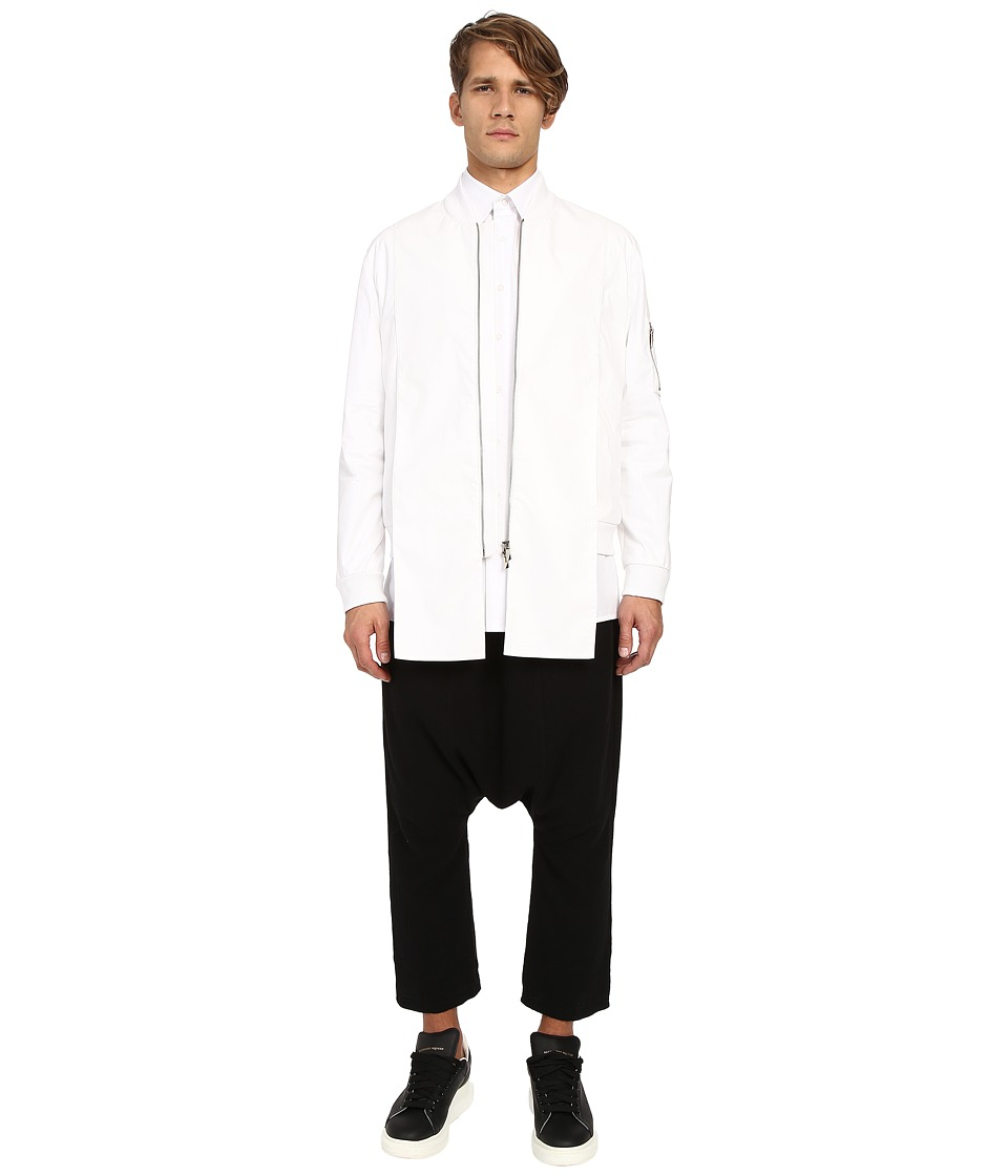D.GNAK - Dragon Embroidery Bomber (White) Men's Coat