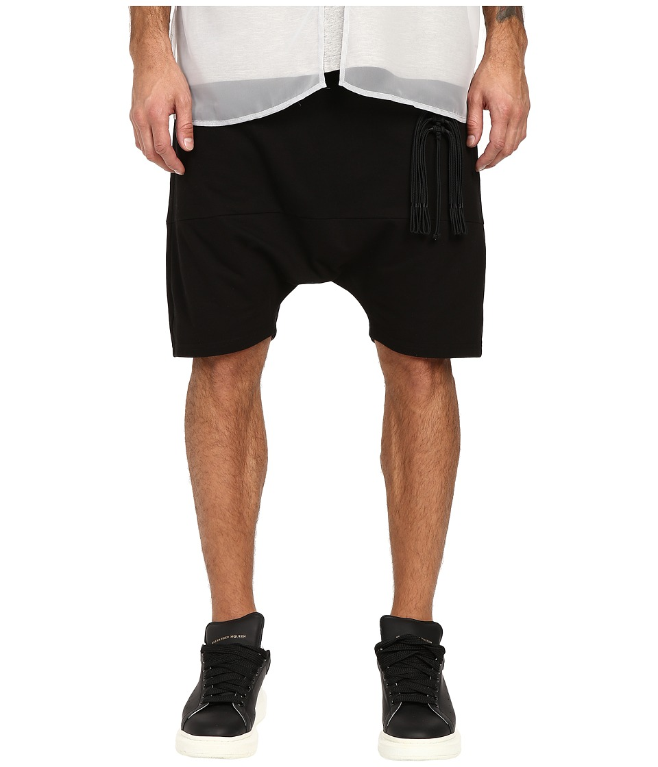 D.GNAK - Ornament Jersey Shorts (Black) Men's Shorts