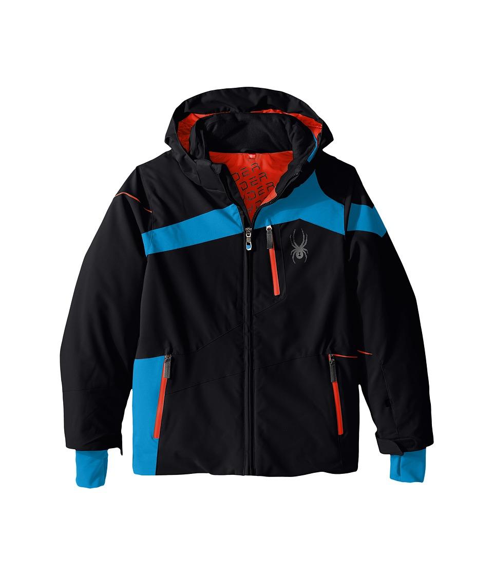 Spyder Kids - Rival Jacket (Big Kids) (Black/Electric Blue/Rage) Boy's Coat