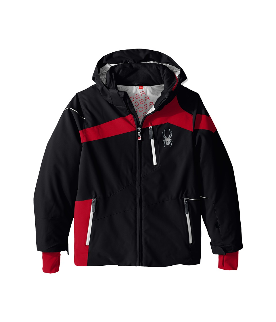 Spyder Kids - Rival Jacket (Big Kids) (Black/Red/Cirrus) Boy's Coat
