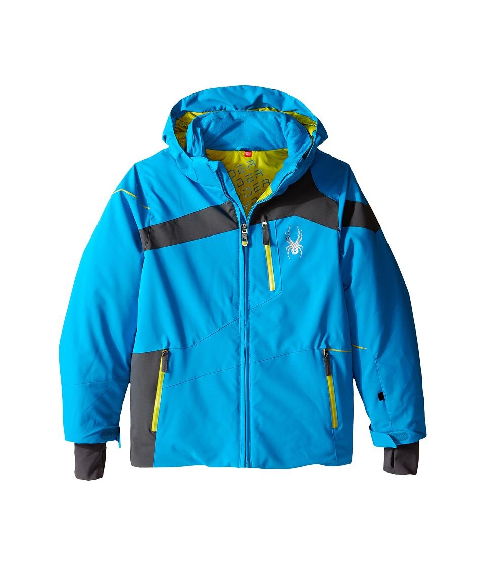 Spyder Kids - Rival Jacket (Big Kids) (Electric Blue/Polar/Sulfur) Boy's Coat