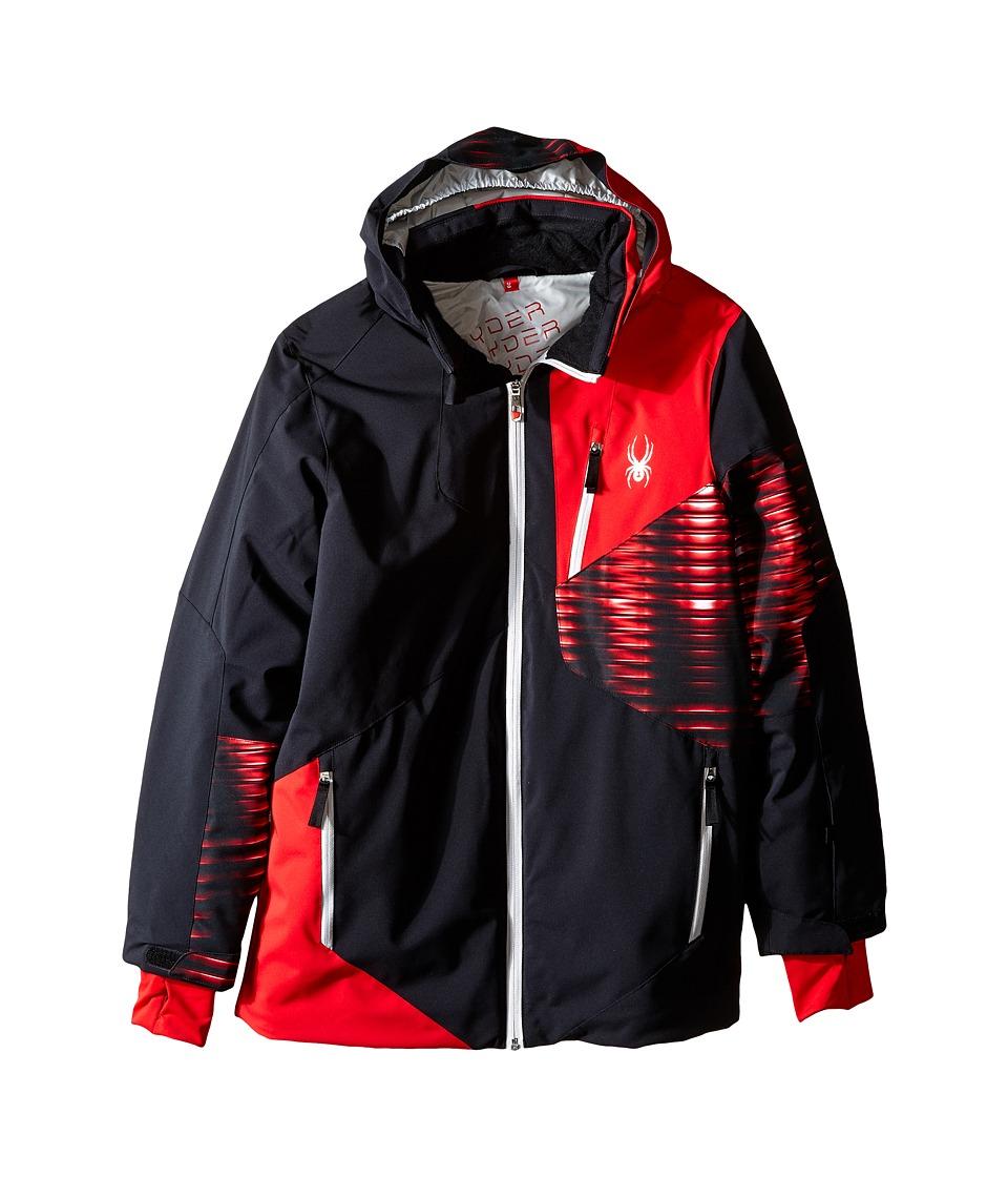 Spyder Kids - Enforcer Jacket (Big Kids) (Black/Red/Space Armor Red) Boy's Coat