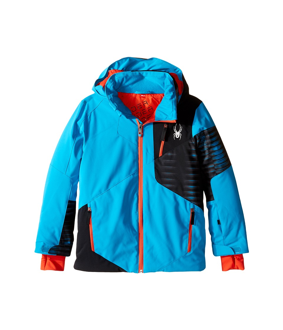Spyder Kids - Enforcer Jacket (Big Kids) (Electric Blue/Black/Space Armor Electric Blue) Boy's Coat