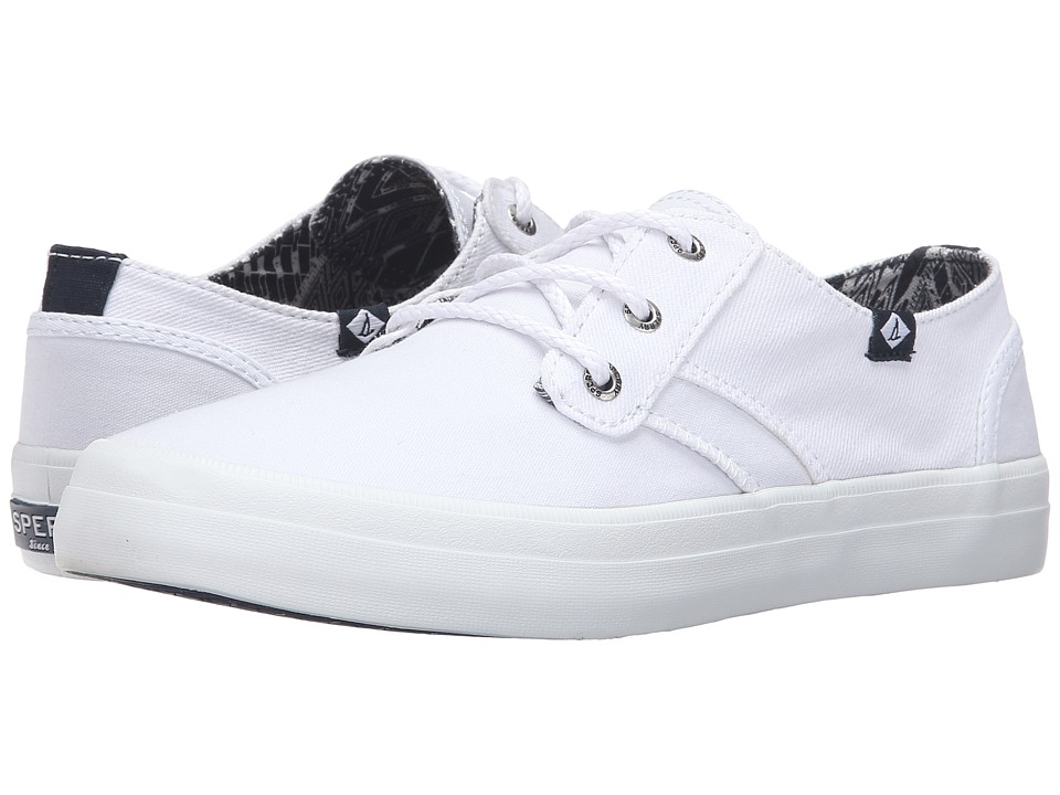 Sperry - Crest Rider Canvas (White) Women's Lace up casual Shoes