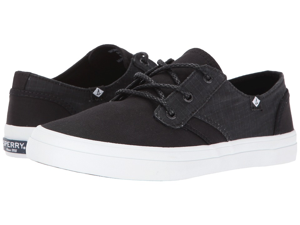 Sperry - Crest Rider Canvas (Black) Women's Lace up casual Shoes