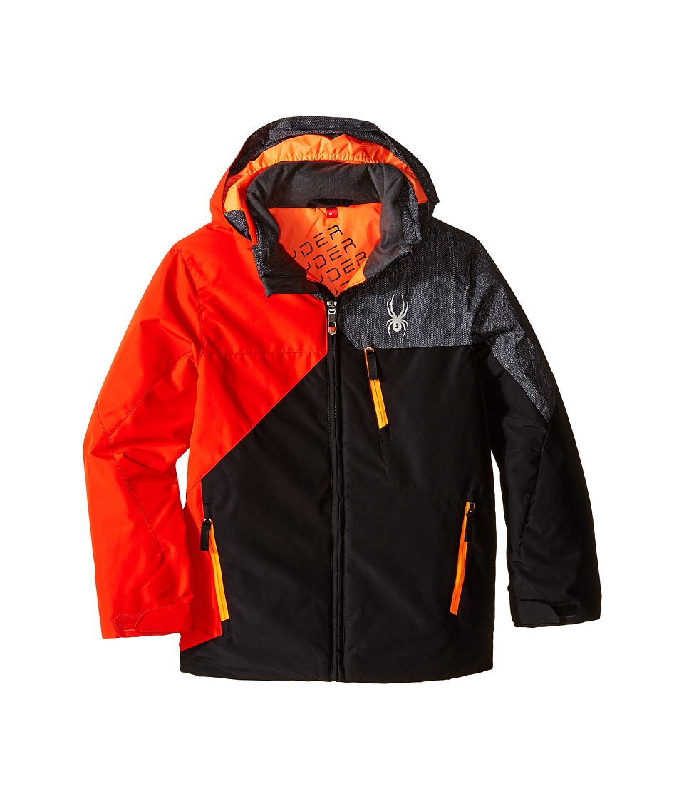 Spyder Kids - Ambush Jacket (Big Kids) (Black/Rage/Herringbone) Boy's Coat