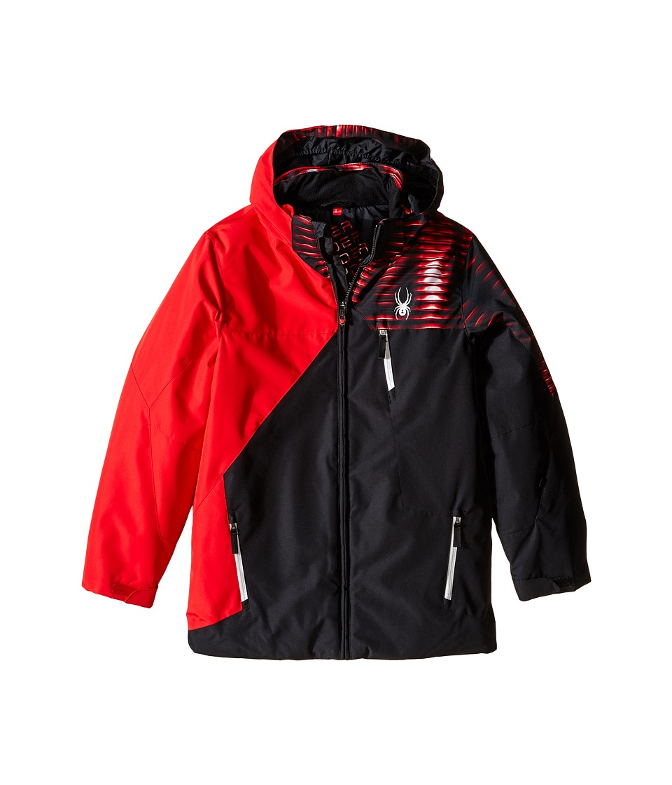 Spyder Kids - Ambush Jacket (Big Kids) (Black/Red/Space Armor Red) Boy's Coat