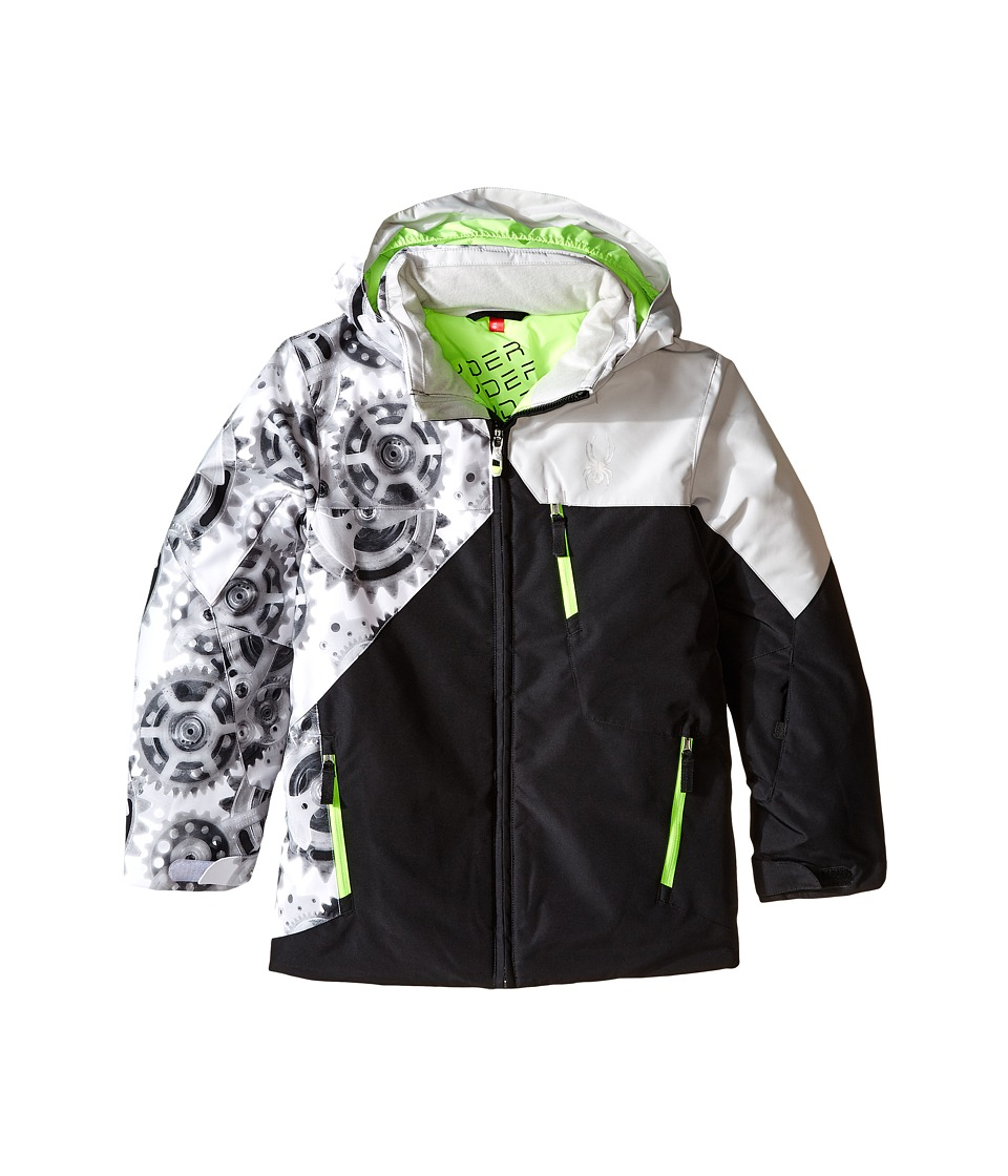 Spyder Kids - Ambush Jacket (Big Kids) (Black/Xray Polar/Cirrus) Boy's Coat