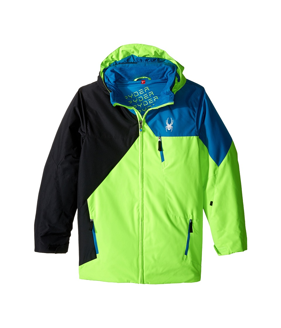 Spyder Kids - Ambush Jacket (Big Kids) (Bryte Green/Black/Concept Blue) Boy's Coat