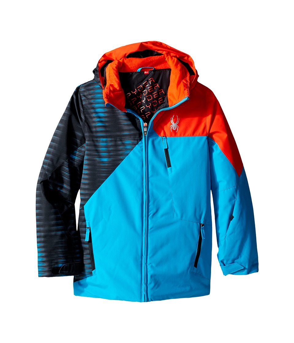 Spyder Kids - Ambush Jacket (Big Kids) (Electric Blue/Space Armor Electric Blue/Rage) Boy's Coat