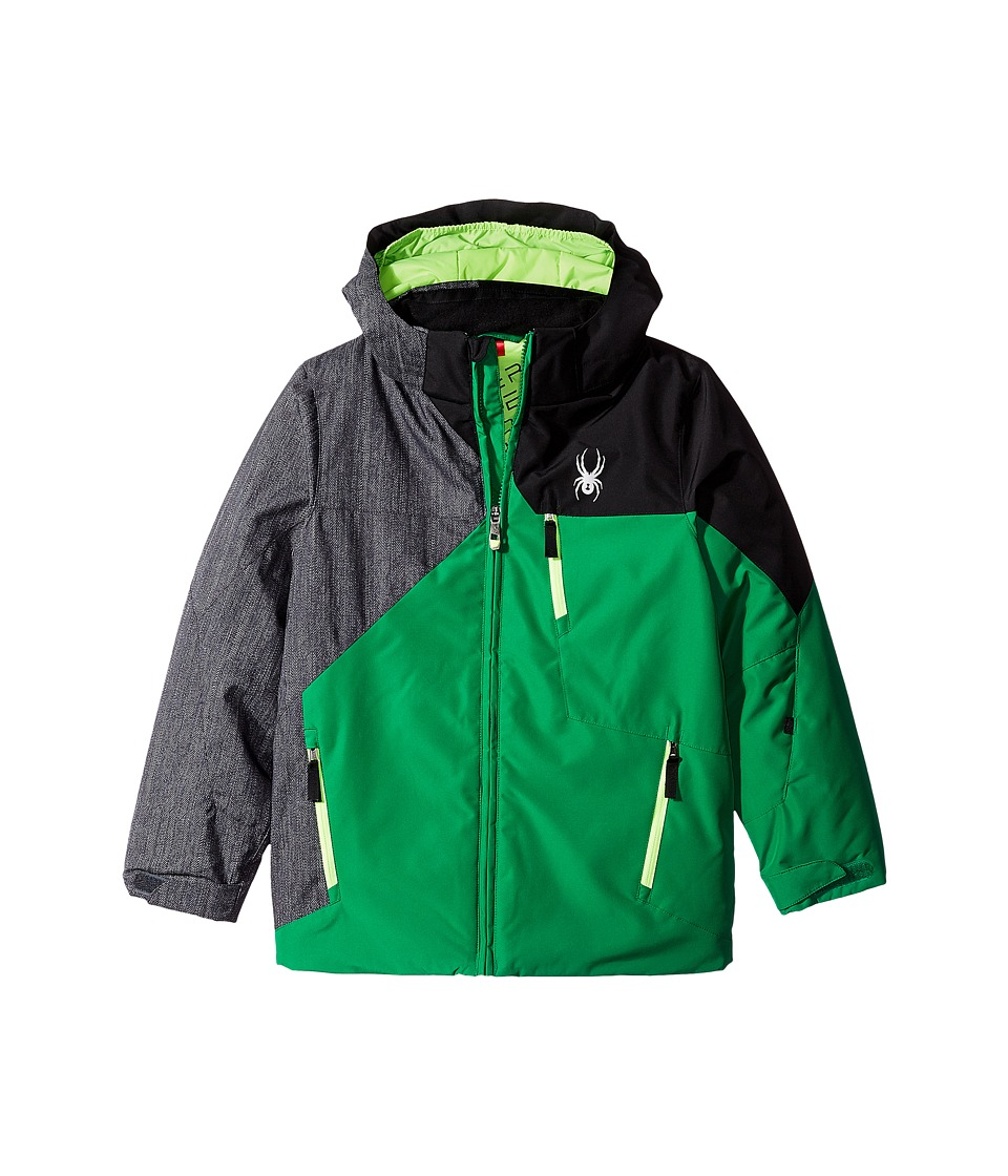 Spyder Kids - Ambush Jacket (Big Kids) (Jungle/Herringbone/Black) Boy's Coat