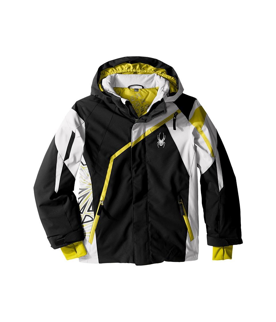 Spyder Kids - Challenger Jacket (Big Kids) (Black/Cirrus/Sulfur) Boy's Coat