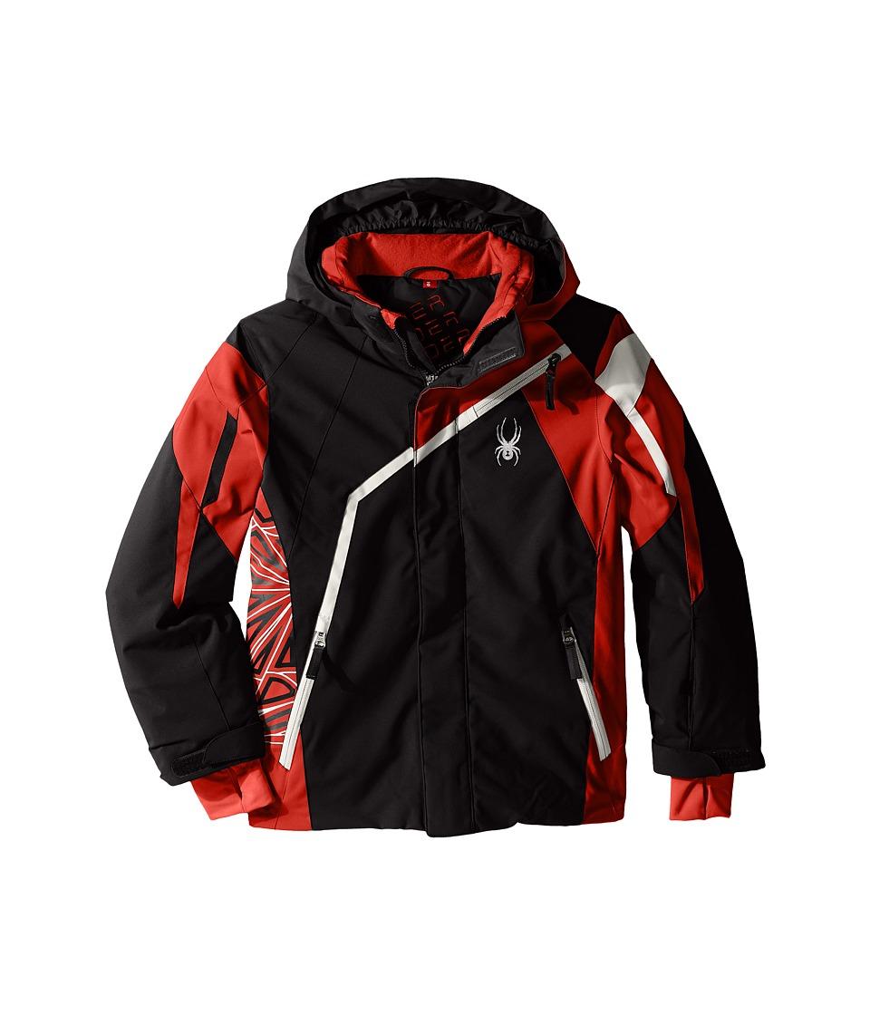 Spyder Kids - Challenger Jacket (Big Kids) (Black/Red/Cirrus) Boy's Coat