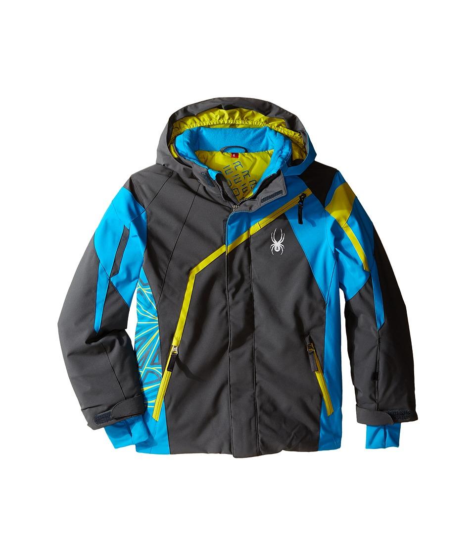 Spyder Kids - Challenger Jacket (Big Kids) (Polar/Electric Blue/Sulfur) Boy's Coat