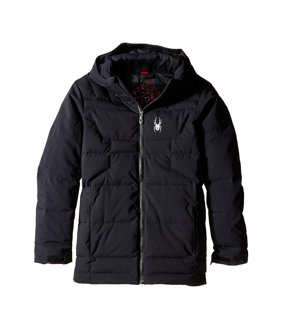 Spyder Kids - Clutch Down Jacket (Big Kids) (Black/Black/Black) Boy's Coat