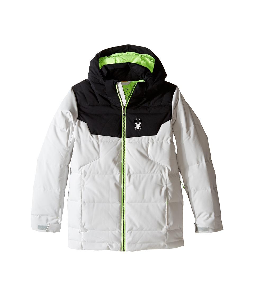 Spyder Kids - Clutch Down Jacket (Big Kids) (Cirrus/Black/Bryte Green) Boy's Coat
