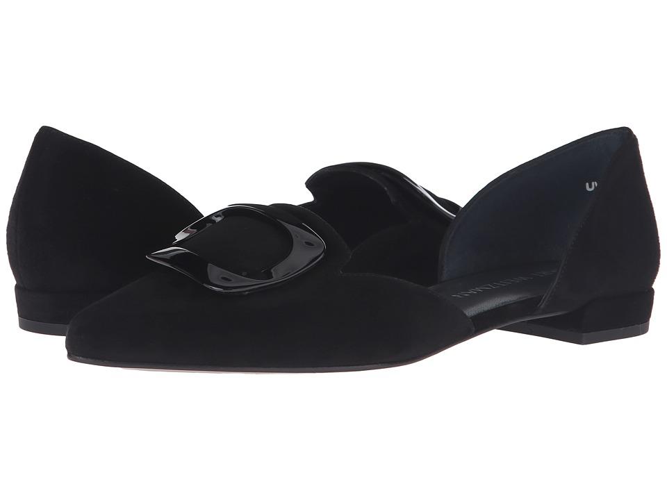 Stuart Weitzman - Dorsini (Black Suede) Women's Slip on Shoes