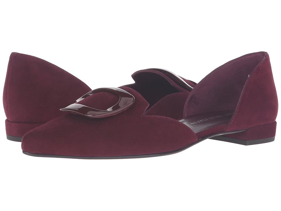 Stuart Weitzman - Dorsini (Bordeaux Suede) Women's Slip on Shoes