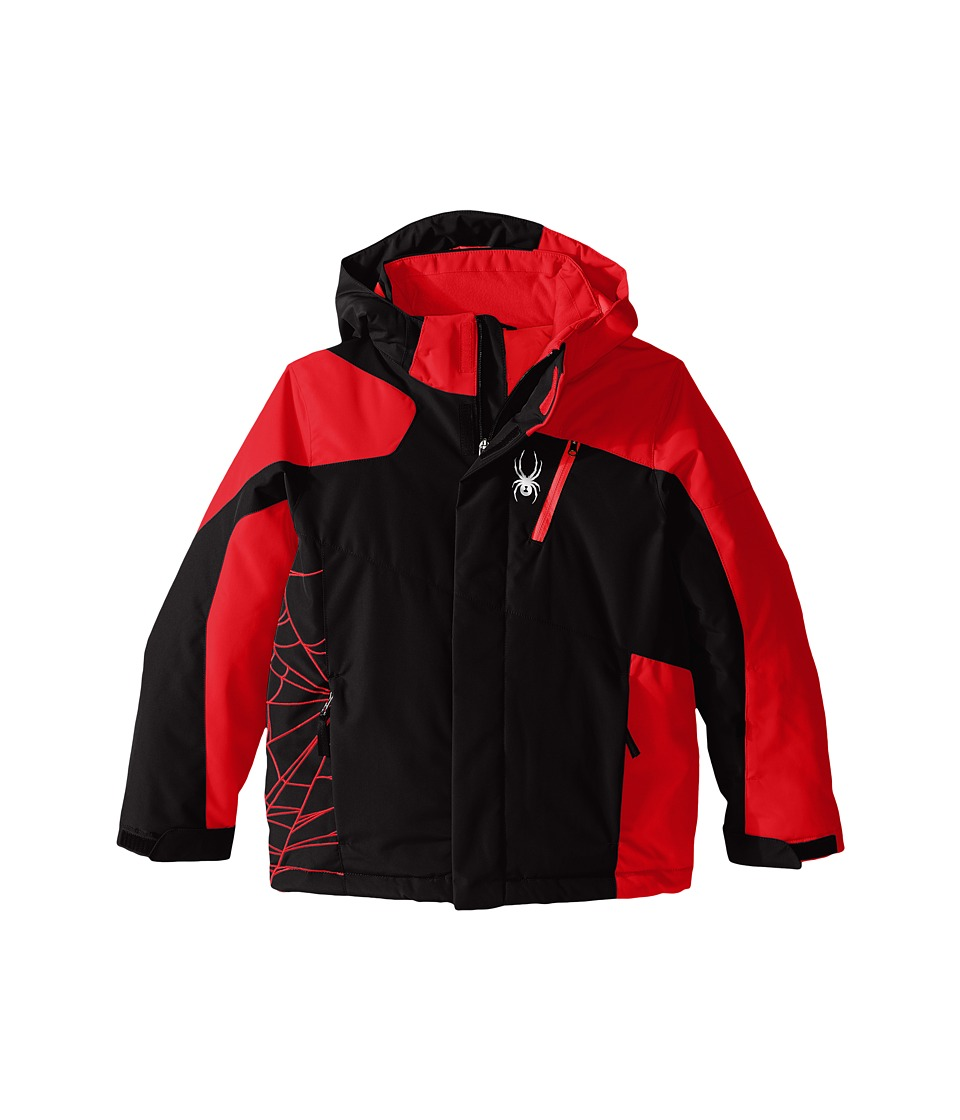 Spyder Kids - Guard Jacket (Big Kids) (Black/Rage/Black) Boy's Coat