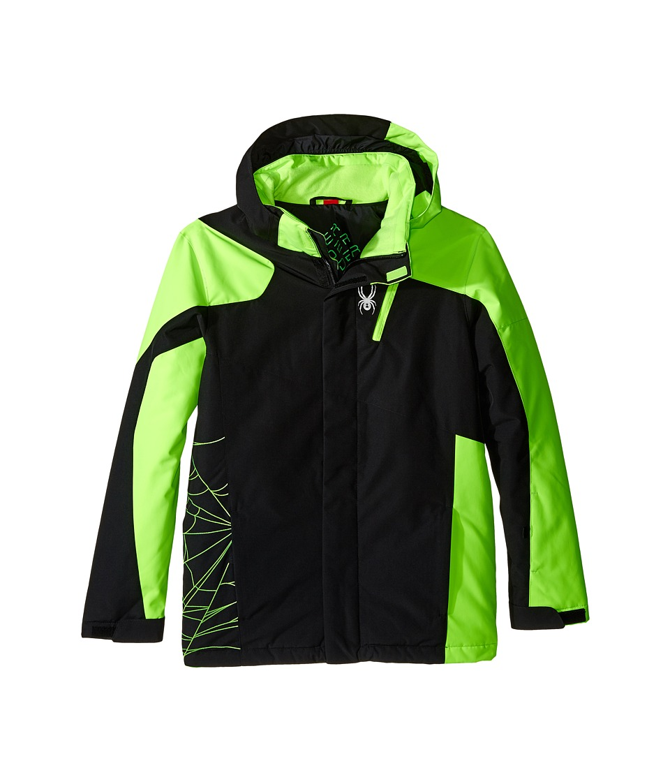 Spyder Kids - Guard Jacket (Big Kids) (Black/Bryte Green/Black) Boy's Coat