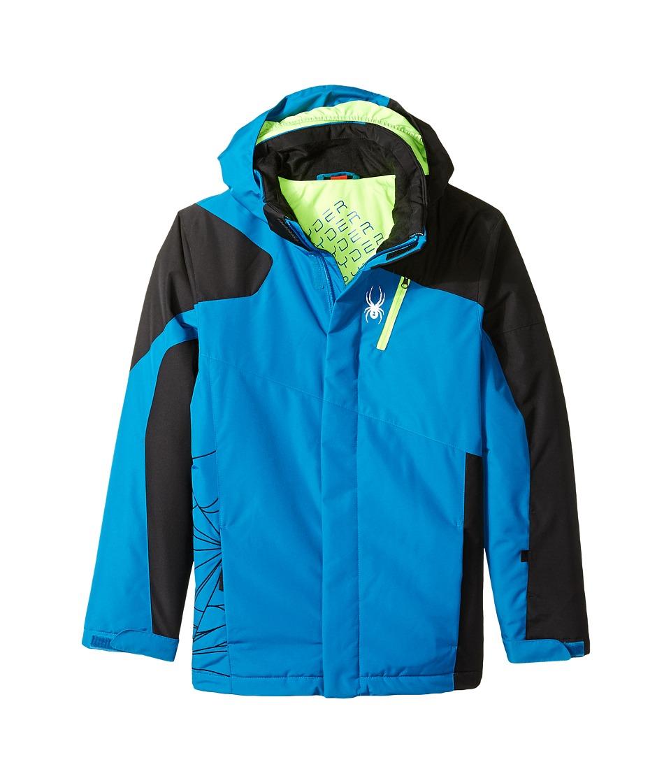 Spyder Kids - Guard Jacket (Big Kids) (Concept Blue/Black/Bryte Green) Boy's Coat