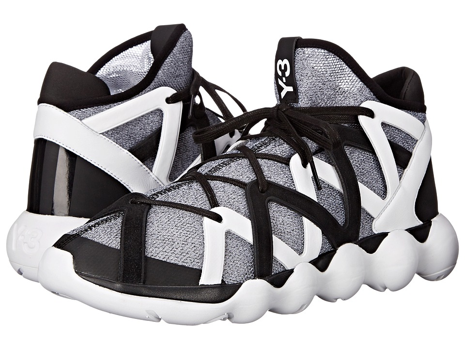 adidas Y-3 by Yohji Yamamoto - Kyujo High (Core Black/White/Core Black) Men's Shoes