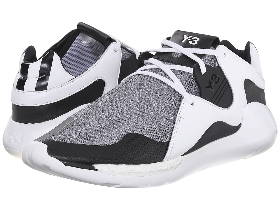 adidas Y-3 by Yohji Yamamoto - QR Run (Vintage White/White/Core Black) Men's Shoes