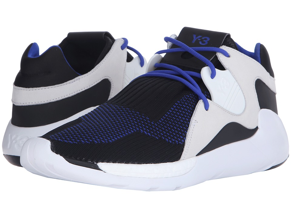 adidas Y-3 by Yohji Yamamoto - QR Knit Run (Electric Blue/Core Black/White) Men's Shoes