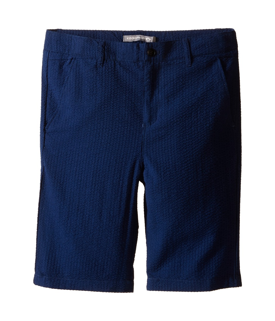 Appaman Kids - Classic Trouser Shorts (Toddler/Little Kids/Big Kids) (Navy Seersucker) Boy's Shorts