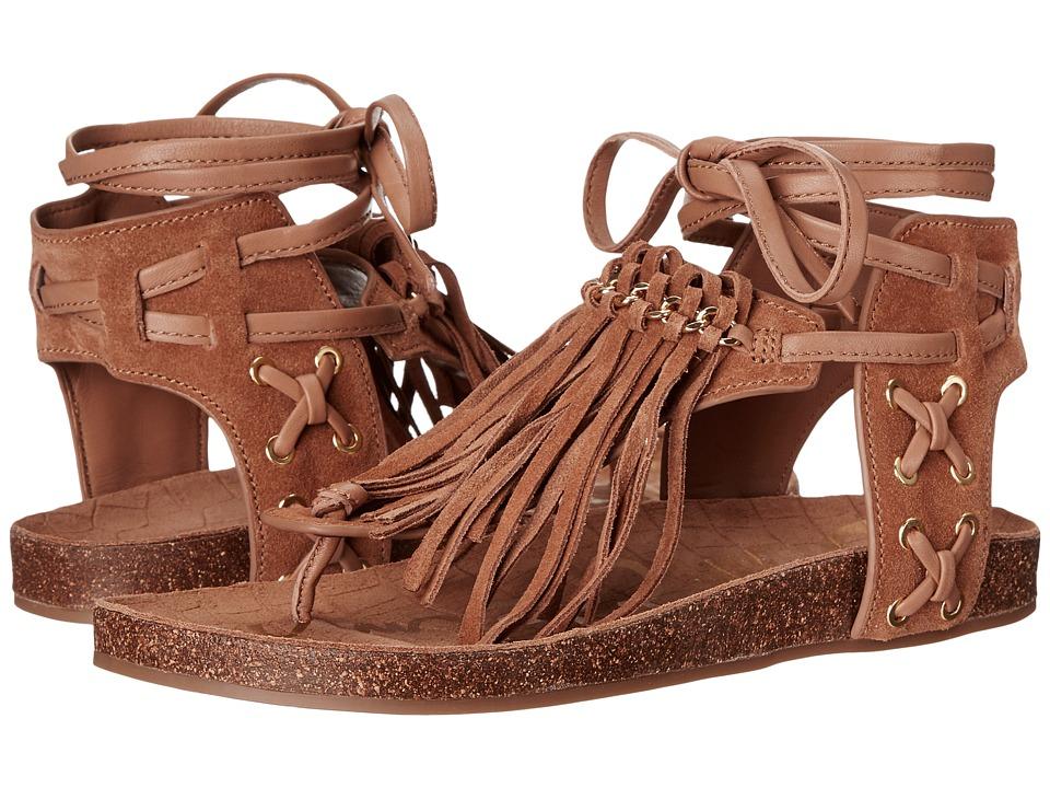 Sam Edelman - Kyra (Golden Caramel Velour Suede Leather) Women's Sandals