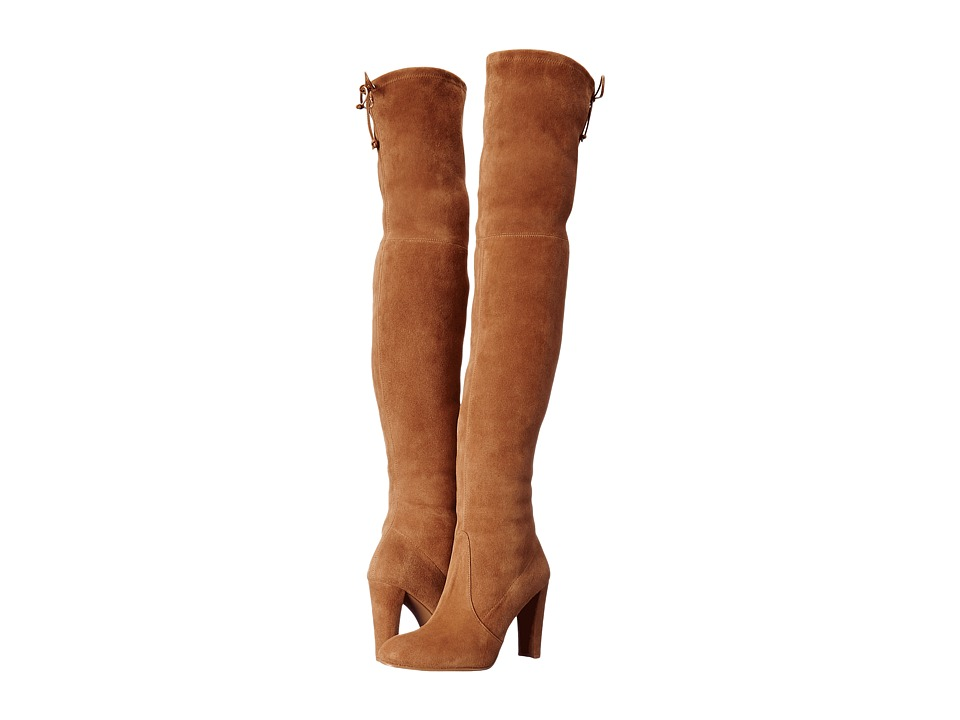 Stuart Weitzman - Highland (Toffee Suede) Women's Dress Pull-on Boots