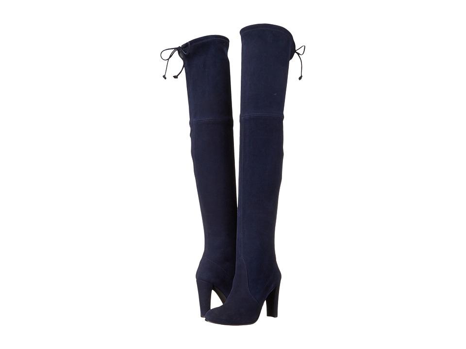 Stuart Weitzman - Highland (Niceblue Suede) Women's Dress Pull-on Boots