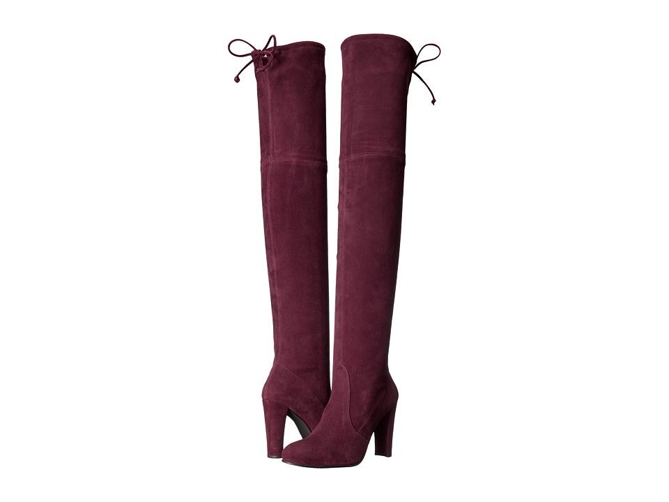 Stuart Weitzman - Highland (Vino Suede) Women's Dress Pull-on Boots