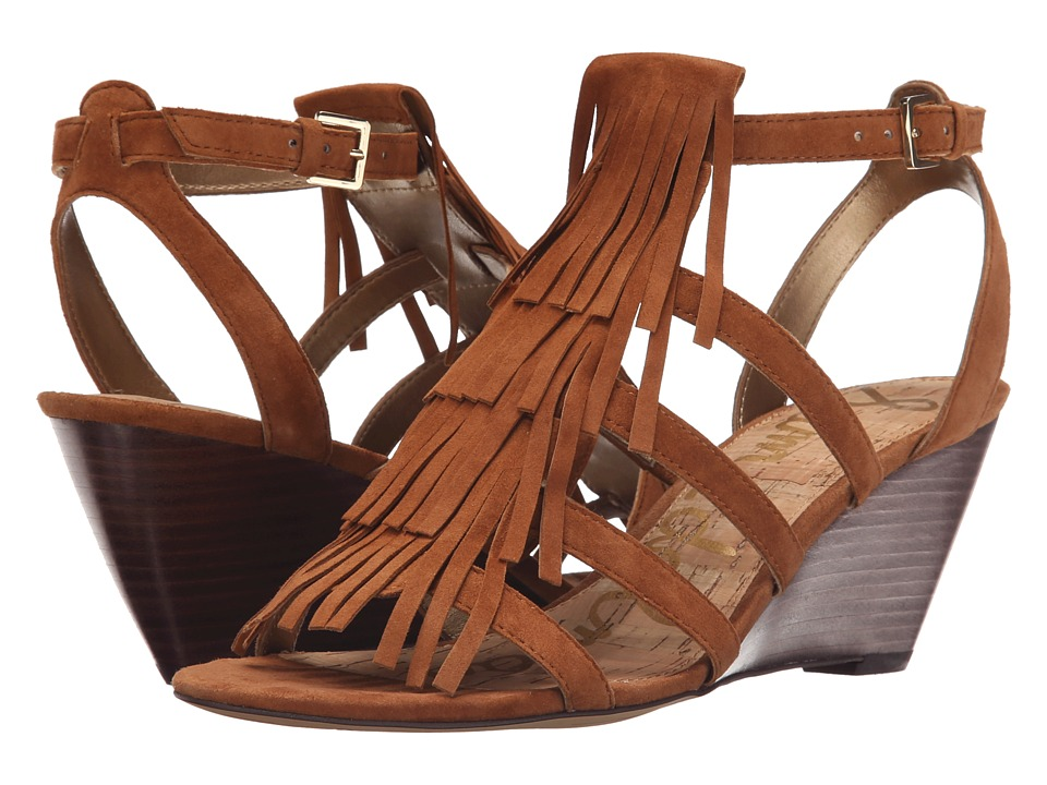 Sam Edelman Sandra Saddle Kid Suede Leather Wedge Shoes