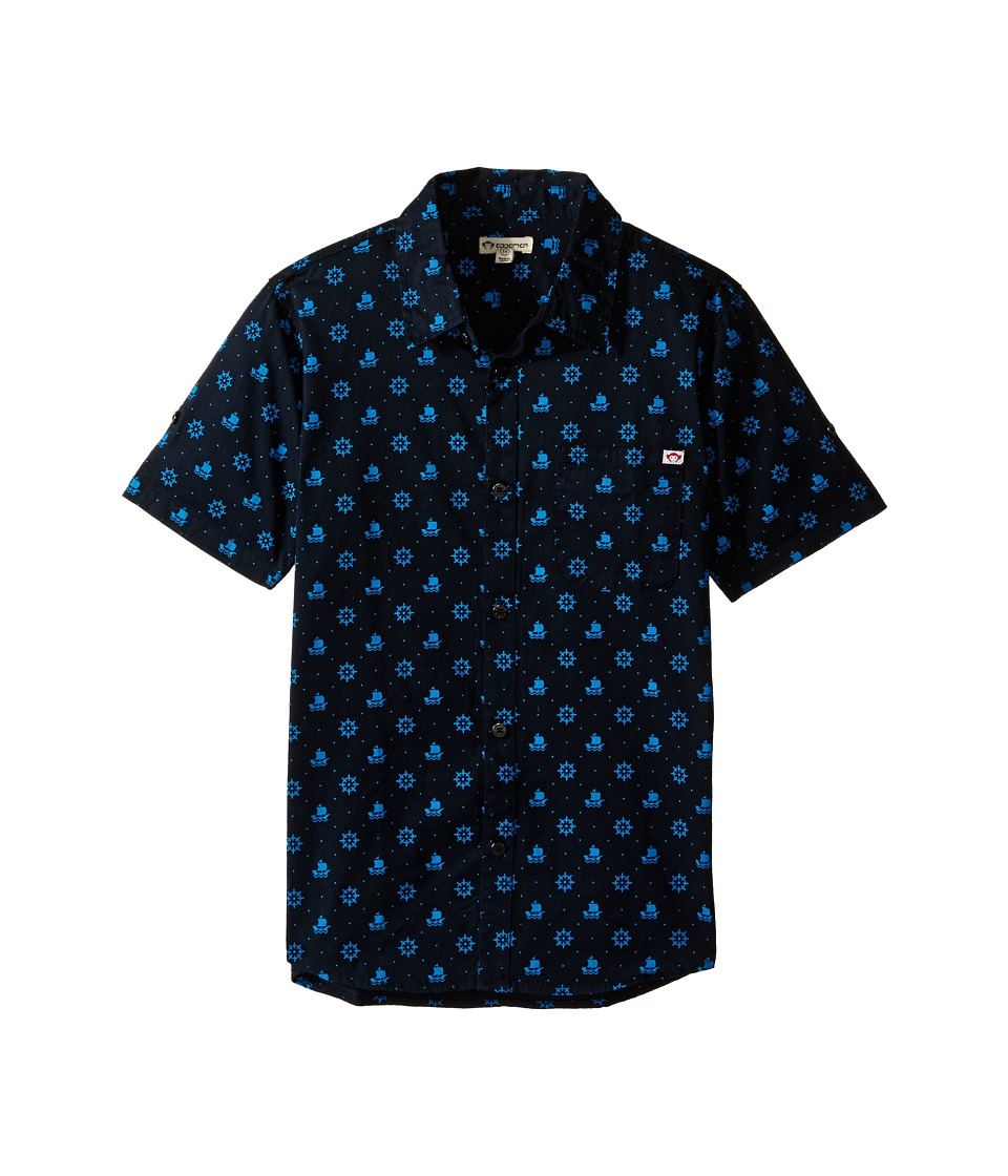 Appaman Kids - Vintage Inspired Button Up Shirt with Nautical Print (Toddler/Little Kids/Big Kids) (Total Eclipse) Boy's Clothing