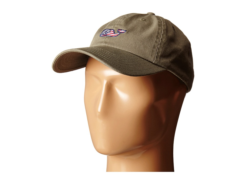 Vineyard Vines - Whale Flag Baseball Hat (Dark Olive) Baseball Caps