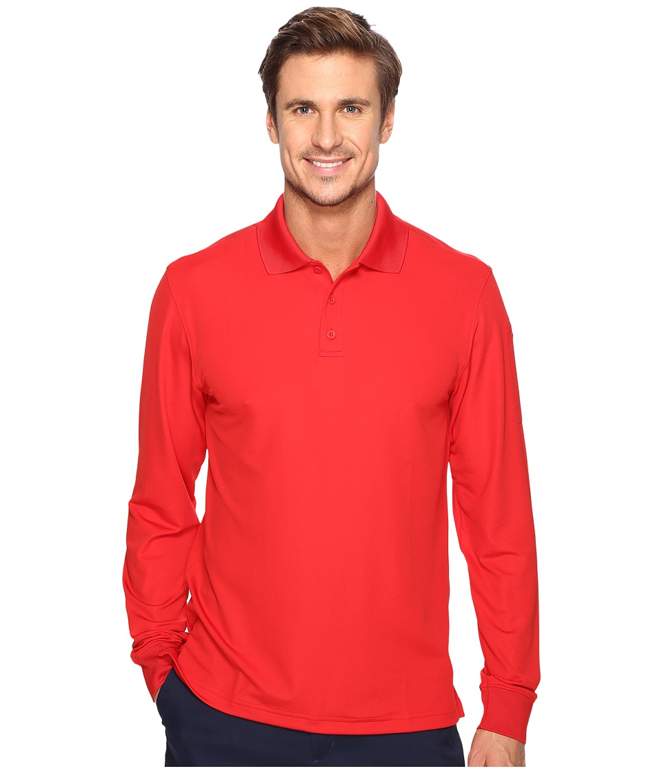 Under Armour - UA Tac Performance Polo Long Sleeve (Red) Men's Long Sleeve Pullover