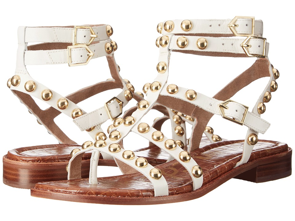 Sam Edelman - Eavan (White Leather) Women's Sandals