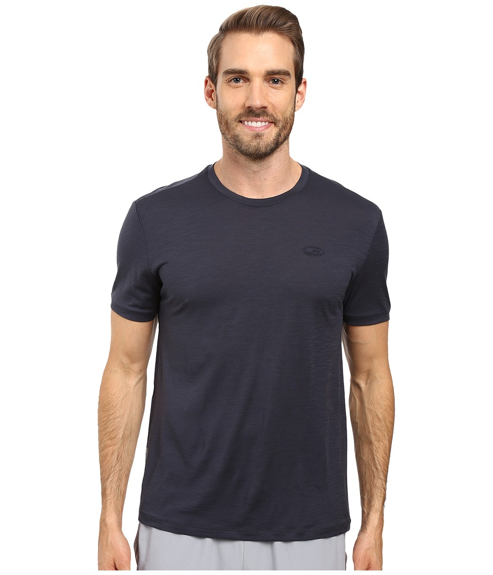 Icebreaker - Tech T Lite Short Sleeve Shirt (Stealth/Stealth/Stealth) Men's Short Sleeve Pullover