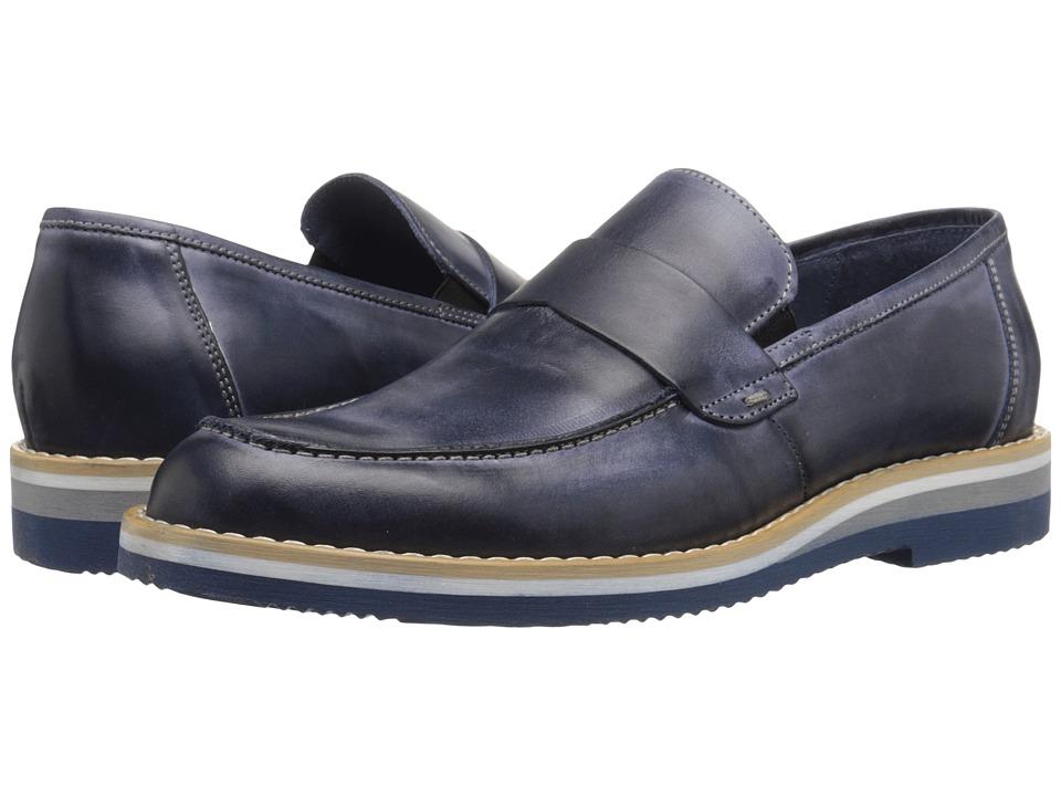Kenneth Cole Reaction - West Village (Blue) Men's Slip on Shoes