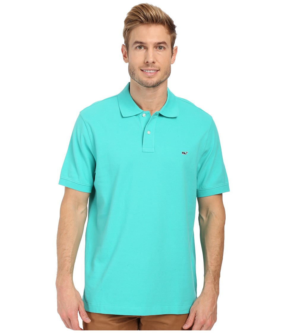 Vineyard Vines - Classic Piqu Polo (Aquinnah Aqua) Men's Short Sleeve Knit