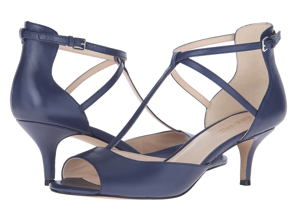 Nine West - Gamgee (Navy Leather) High Heels