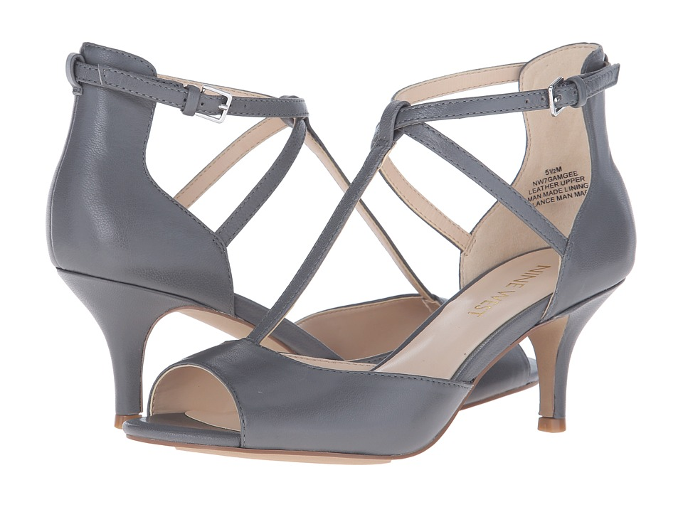 Nine West - Gamgee (Gray Leather) High Heels