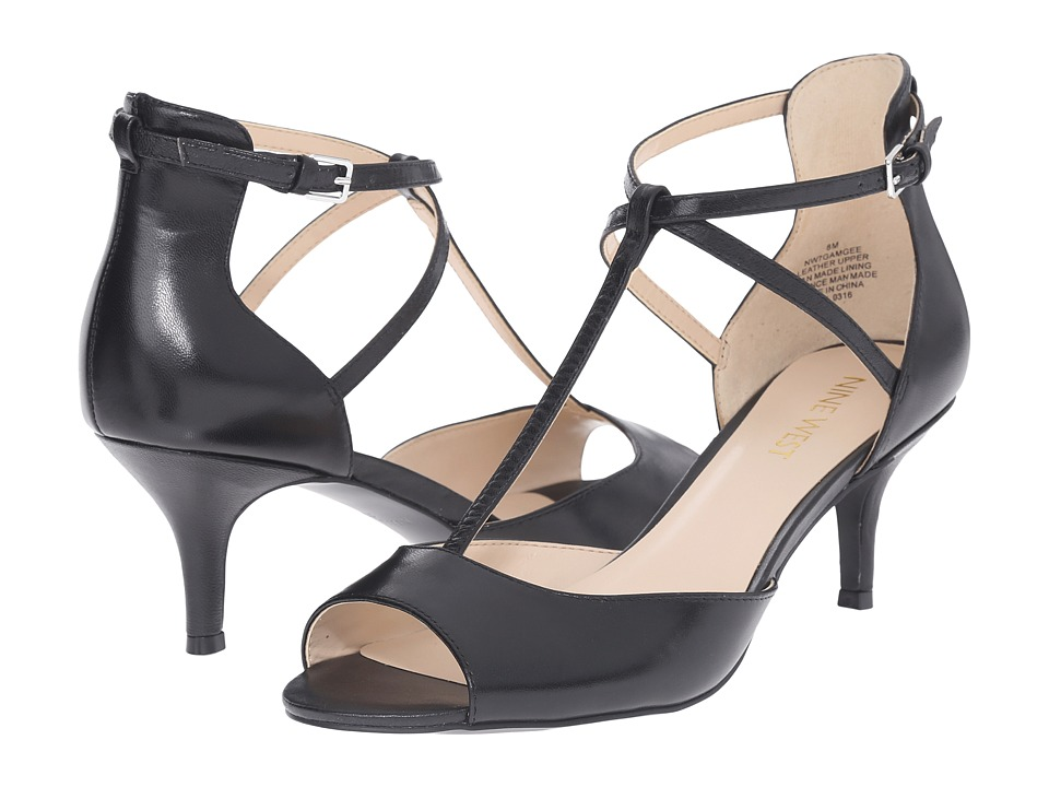 Nine West - Gamgee (Black Leather) High Heels